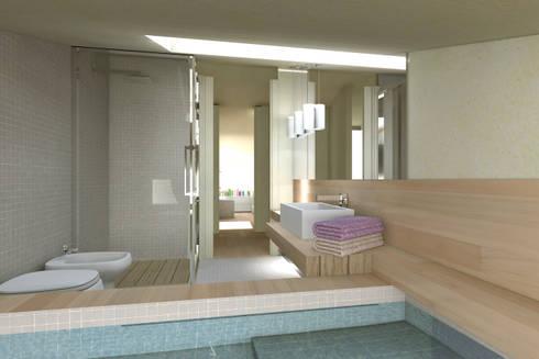 ambienti di qualità in piccoli spazi: Bagno in stile in stile Moderno di Giussani Patrizia