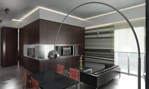 Casa M.: Soggiorno in stile in stile Moderno di studioLO architetti