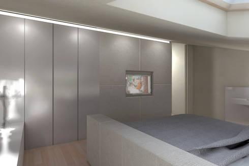 ambienti di qualità in piccoli spazi: Camera da letto in stile in stile Moderno di Giussani Patrizia