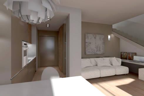 ambienti di qualità in piccoli spazi: Soggiorno in stile in stile Moderno di Giussani Patrizia