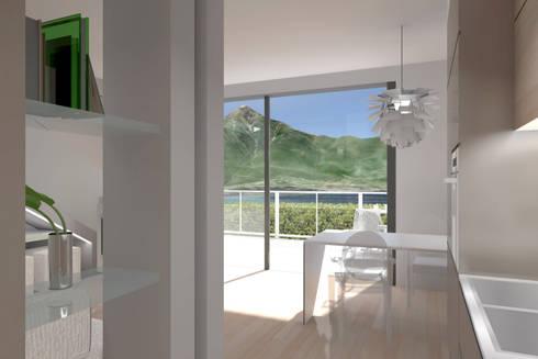 ambienti di qualità in piccoli spazi: Sala da pranzo in stile in stile Moderno di Giussani Patrizia