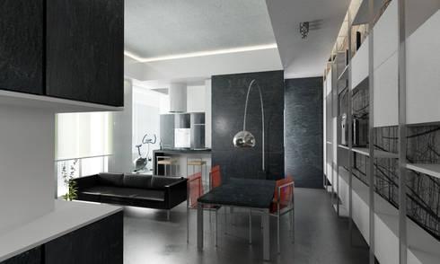 Casa M.: Sala da pranzo in stile in stile Moderno di studioLO architetti