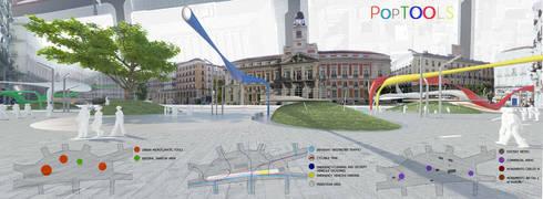 POP TOOLS – CONCURSO INTERNACIONAL DE IDEAS PARA LA ORDENACIÓN DEL ÁMBITO DE LA PUERTA DEL SOL DE MADRID:  in stile  di studioLO architetti