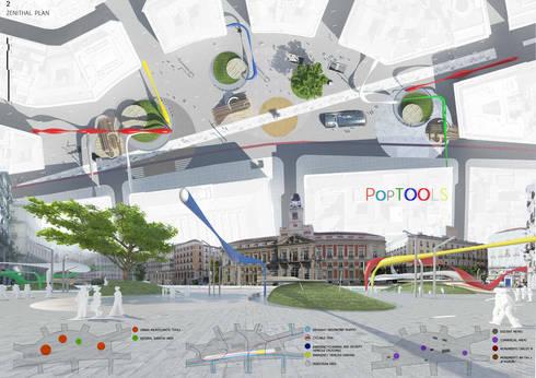 POP TOOLS - CONCURSO INTERNACIONAL DE IDEAS PARA LA ORDENACIÓN DEL ÁMBITO DE LA PUERTA DEL SOL DE MADRID:  in stile  di studioLO architetti