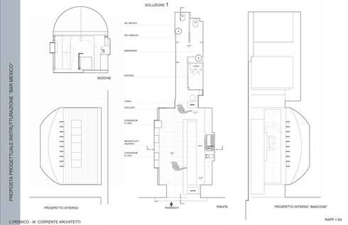 Bar <q>MEXICO</q>: Negozi & Locali commerciali in stile  di studioLO architetti