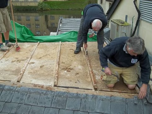 Roofers at work:   by BPM Roofers