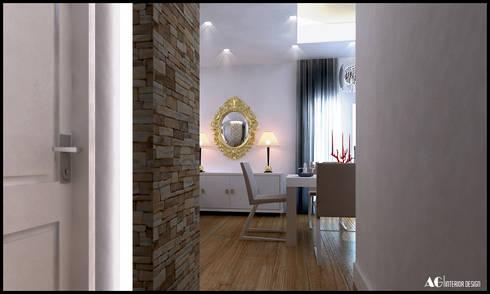 G_House: Sala da pranzo in stile in stile Moderno di AG Interior Design