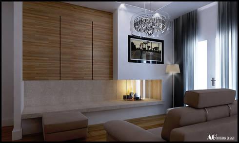 G_House: Soggiorno in stile in stile Moderno di AG Interior Design