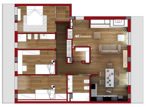 Pianta: Case in stile in stile Moderno di AG Interior Design