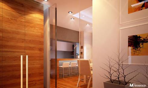 Ingresso_Cucina: Cucina in stile in stile Moderno di AG Interior Design