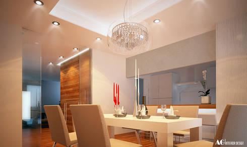 C_House: Sala da pranzo in stile in stile Moderno di AG Interior Design