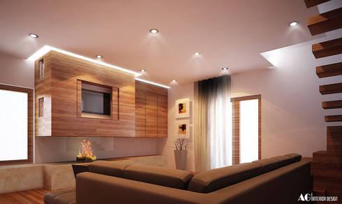 C_House: Soggiorno in stile in stile Moderno di AG Interior Design