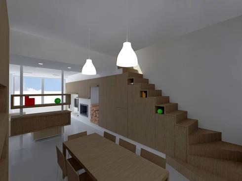 Casa DD: Soggiorno in stile in stile Moderno di pt architetti