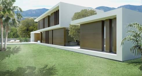 Twenty: Casas de estilo moderno de Binomio Estudio