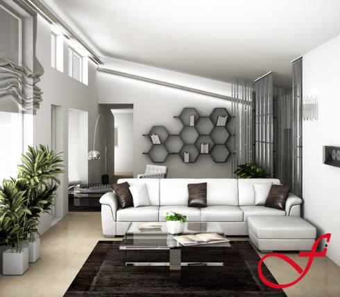 Villa Privata VL: Soggiorno in stile in stile Moderno di Fenice Interiors