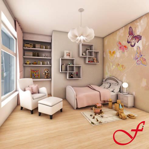 Villa Privata VL: Stanza dei bambini in stile in stile Moderno di Fenice Interiors