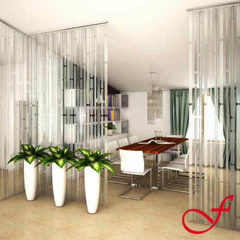 Villa Privata VL: Sala da pranzo in stile in stile Moderno di Fenice Interiors