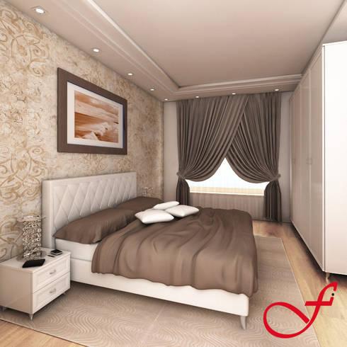 Residenza privata VK: Camera da letto in stile in stile Moderno di Fenice Interiors