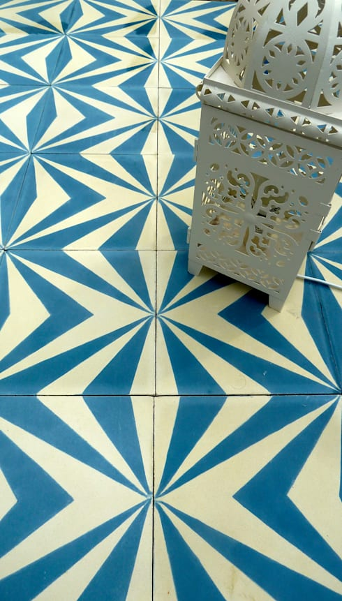 Neo cement tile:  Walls & flooring by Maria Starling Design