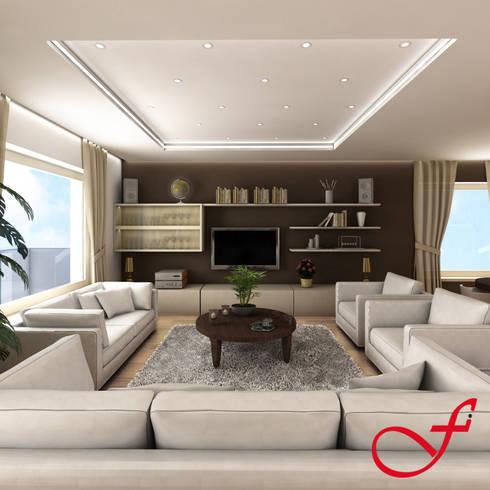 Residenza privata VK: Soggiorno in stile in stile Moderno di Fenice Interiors