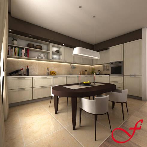 Residenza privata VK: Cucina in stile in stile Moderno di Fenice Interiors
