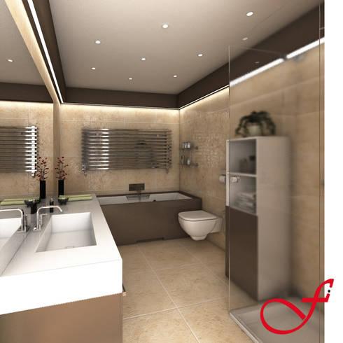 Residenza privata VK: Bagno in stile in stile Moderno di Fenice Interiors