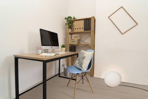 Clapham Common Flat 1: scandinavian Bedroom by YAM Studios