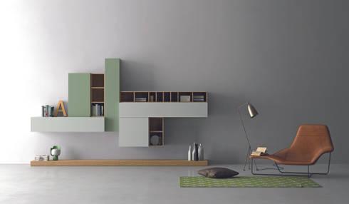 Industrial design - Dall'Agnese - Zona giorno Slim: Soggiorno in stile in stile Moderno di IMAGO DESIGN