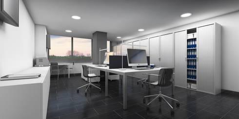 Zonas de Trabajo: Oficinas y Tiendas de estilo  de NSTUDIO
