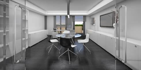 Despacho Principal: Oficinas y Tiendas de estilo  de NSTUDIO