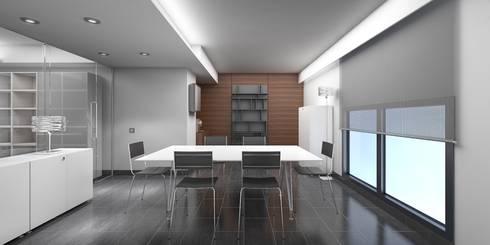 Sala de Reuniones: Oficinas y Tiendas de estilo  de NSTUDIO