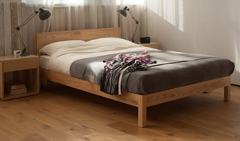 Sahara Bed: scandinavian Bedroom by Natural Bed Company