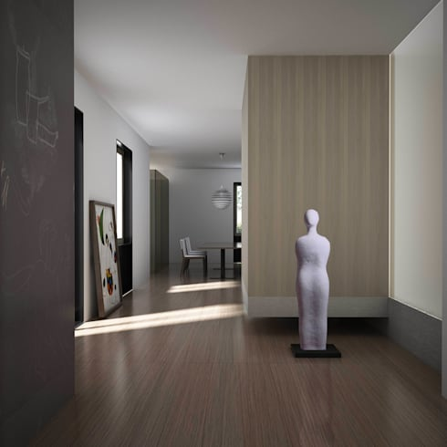 CASA PRIVATA M+F : Soggiorno in stile in stile Moderno di Studio Associato Casiraghi