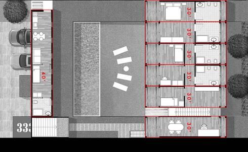 Pianta - Piano terra: Case in stile in stile Industriale di GRUPPOFONARCHITETTI