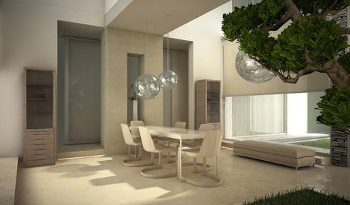 Residenza Privata in New Delhi: Sala da pranzo in stile in stile Moderno di Barbara Pizzi