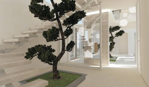 Residenza Privata in New Delhi: Ingresso & Corridoio in stile  di Barbara Pizzi