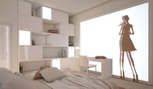 Residenza Privata in New Delhi: Camera da letto in stile in stile Moderno di Barbara Pizzi