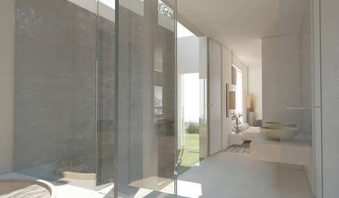 Residenza Privata in New Delhi: Bagno in stile in stile Moderno di Barbara Pizzi