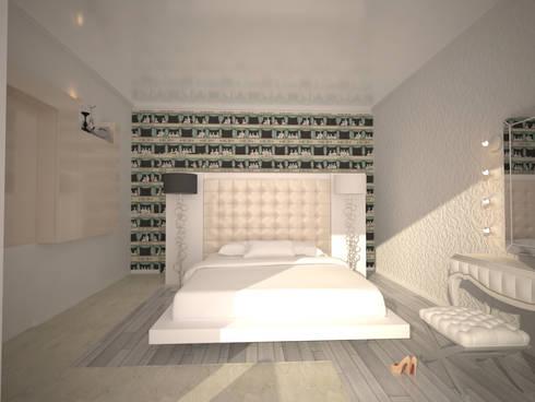 alexander penthouse: Camera da letto in stile in stile Moderno di labzona