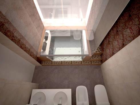 alexander penthouse: Bagno in stile in stile Moderno di labzona