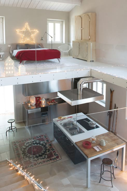 Residenza estiva: Cucina in stile  di archiplanstudio