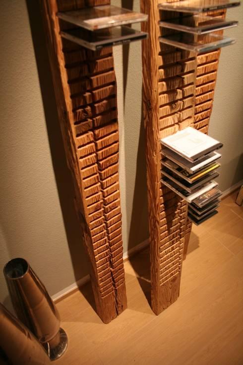 cd regal designobjekte aus antikem holz von woodesign. Black Bedroom Furniture Sets. Home Design Ideas