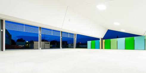 Nuovo padiglione delle feste a Barzago, Lc (2011-13): Sala multimediale in stile  di sergio fumagalli architetto