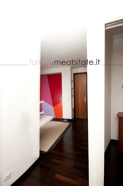 Ristrutturazione di un appartamento in Roma – 80 mq: Soggiorno in stile in stile Moderno di Fabiola Ferrarello architetto