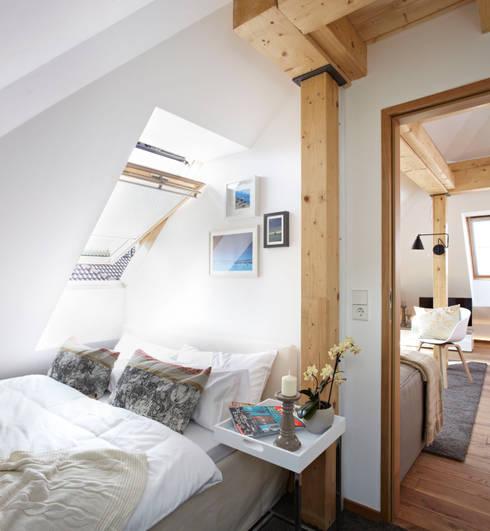 Projekty,  Sypialnia zaprojektowane przez Ute Günther  wachgeküsst