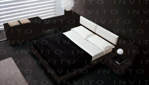 Recámara INVITO Tapizada : Recámaras de estilo minimalista por INVITO