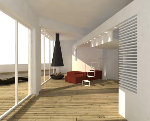 LOFT: Ingresso, Corridoio & Scale in stile in stile Minimalista di DELISABATINI architetti