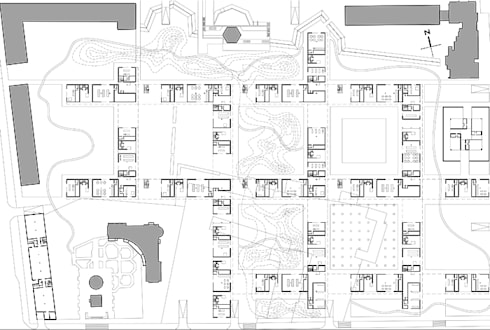 INTERNATIONAL COMPETITION FOR THE DESIGN OF AN URBAN BLOCK IN THE HISTORICAL CENTRE OF BELGOROD:  in stile  di DELISABATINI architetti