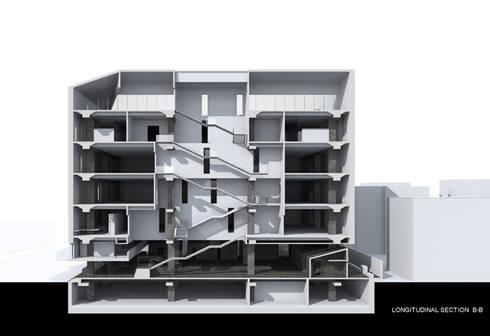 INTERNATIONAL COMPETITION FOR RECONSTRUCTION, RENOVATION AND FACADE DESIGN OF NEC, SOFIA:  in stile  di DELISABATINI architetti