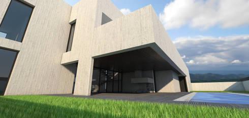 Vivienda unifamiliar aislada: Jardines de estilo  de Q:NØ Arquitectos